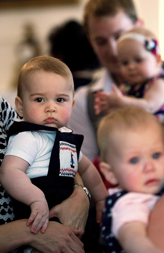 Big Brother? Prince George during a visit to Plunket nurse and parents group at Government House in Wellington. Pic: /Marty Melville