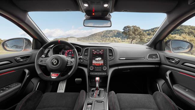 Sporty seats: RS interior adds to high-performance feel.