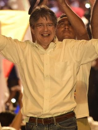 Ecuadorean presidential candidate for the Creo party, Guillermo Lasso. Picture: AFP/Rodrigo Buendia