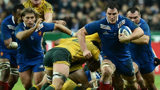 AUSTRALIA v France rugby union Test at Stade de France, north of Paris: France's No.8 Louis Picamoles on the charge. Picture: Franck Fife