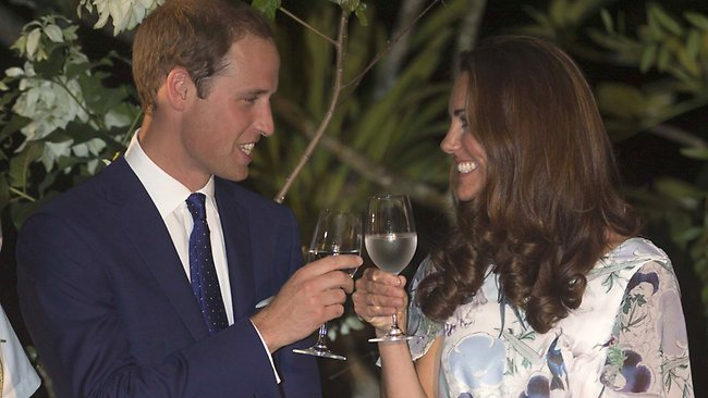 Wills and Kate toast