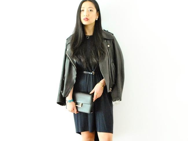 One of the many looks Angela Yang wears, using some of her 10 basics. Picture: Instagram.
