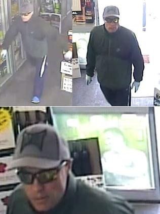 Police have released images of a man sought over the armed hold-up of a liquor store at O'Sullivan Beach.