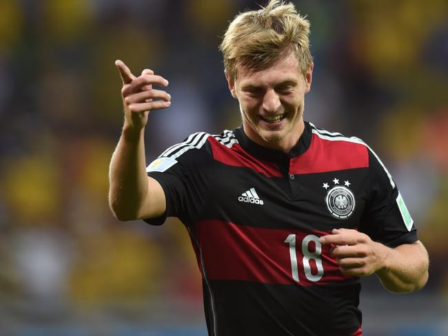 Toni Kroos of Germany, which has received nicer reviews than its opponent in the World Cup final, Argentina.