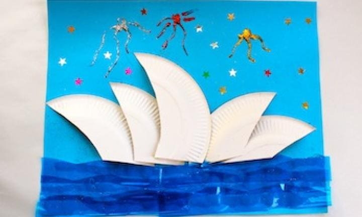 Sydney Opera House collage craft