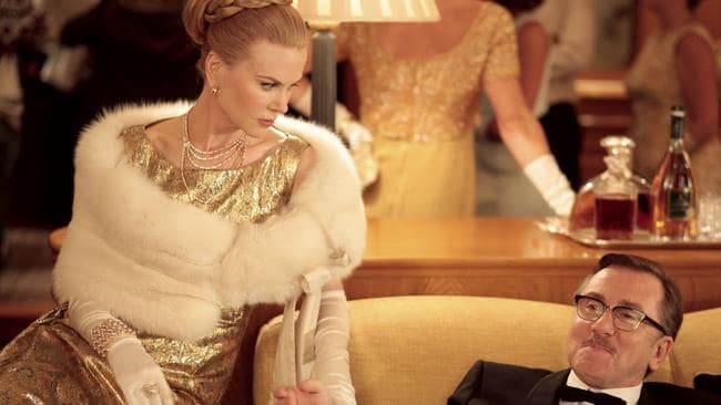 Bombed ... Grace, Princess of Monaco (Nicole Kidman), and Prince Ranier (Tim Roth) in a scene from Grace of Monaco directed by Olivier Dahan. Picture: Supplied