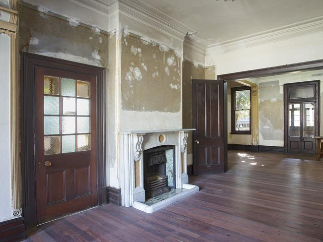 The home is a perfect project with grand designs, including these double reception rooms