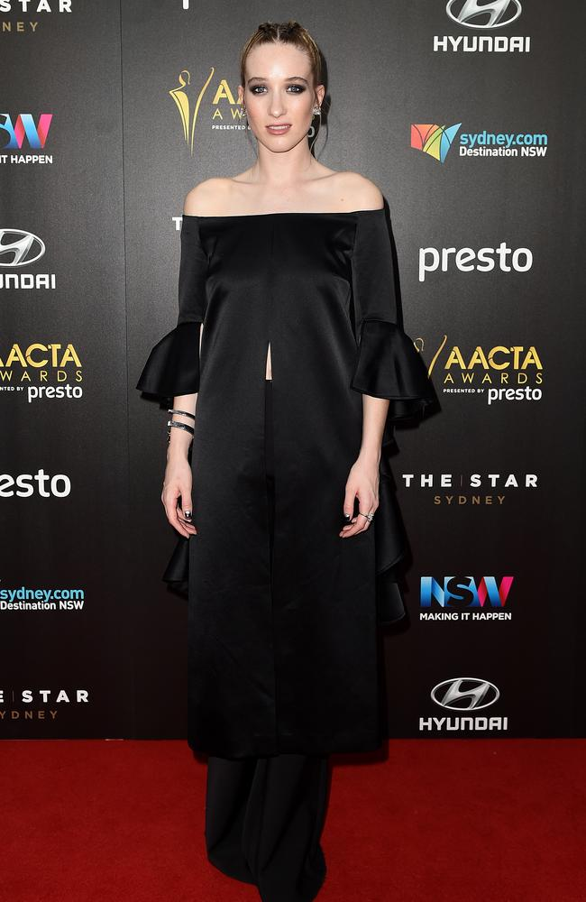 Sophie Lowe arrives ahead of the 5th AACTA Awards Presented by Presto at The Star on December 9, 2015 in Sydney, Australia. Picture: AAP