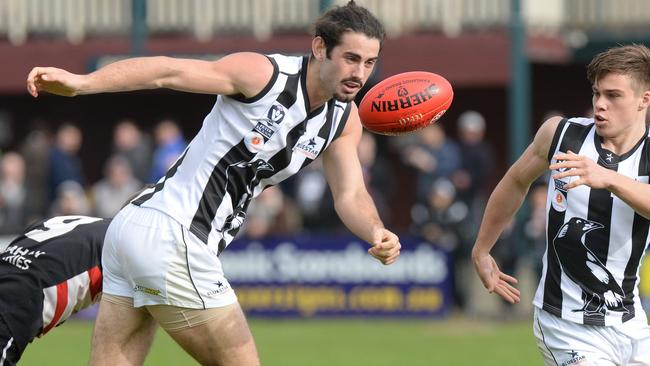 Collingwood ruckman Brodie Grundy in action in the VFL. Picture: Chris Eastman
