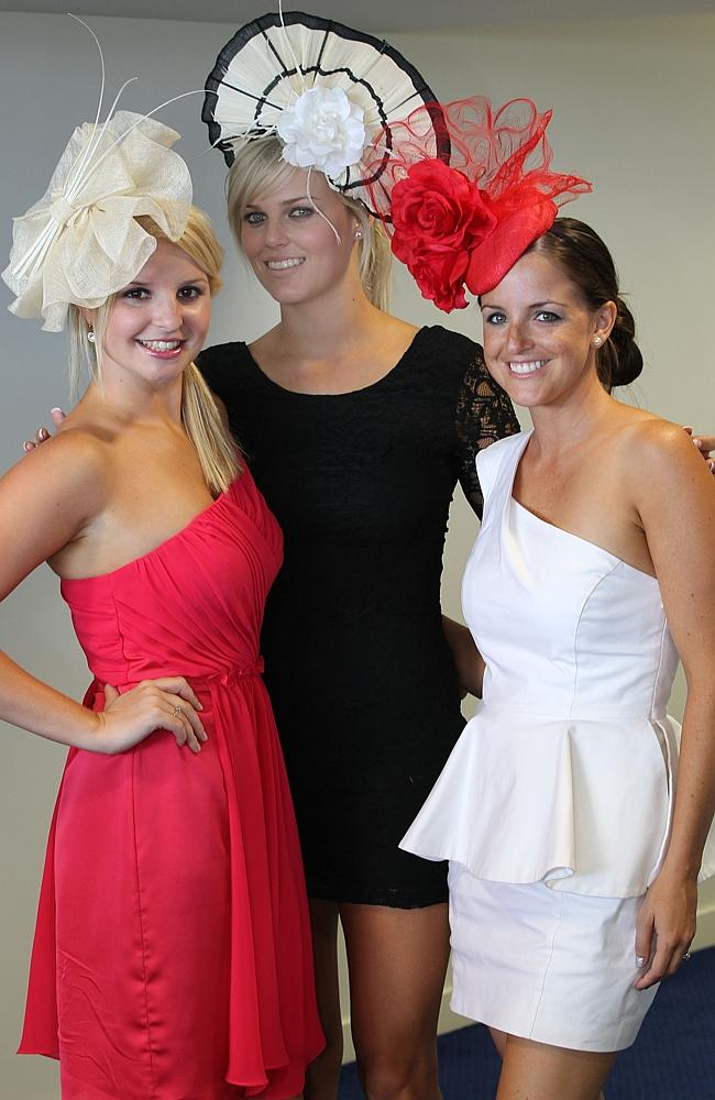 Kiaarn Holland (middle) with Laura Crilley and Rebecca Hammersley.