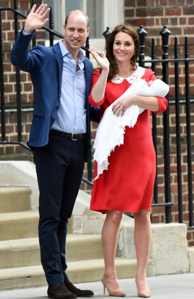 Prince William said the couple were 'delighted' but had 'thrice the worry' now. Picture: Neil Warner/MEGA TheMegaAgency.com