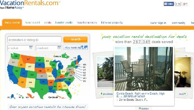 Sorry Expedia, too slow. Source: vacationrentals.com