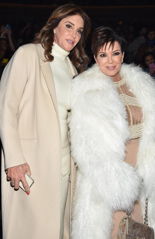 Caitlyn and Kris Jenner put on a united front at Kanye's recent album and fashion launch. Picture: Getty