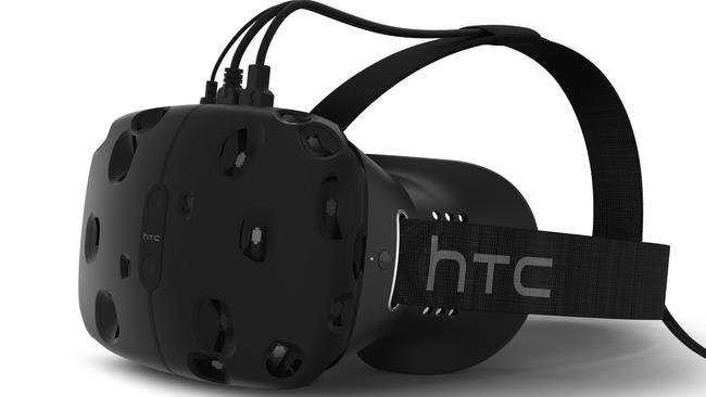 Competition coming ... HTC plans to launch its Vive virtual reality headset in April next year.
