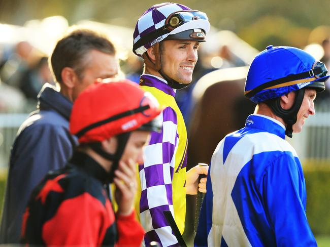 Tye Angland (centre) will be monitoring the form of Golden Rose rivals on Saturday. Picture: Mark Evans