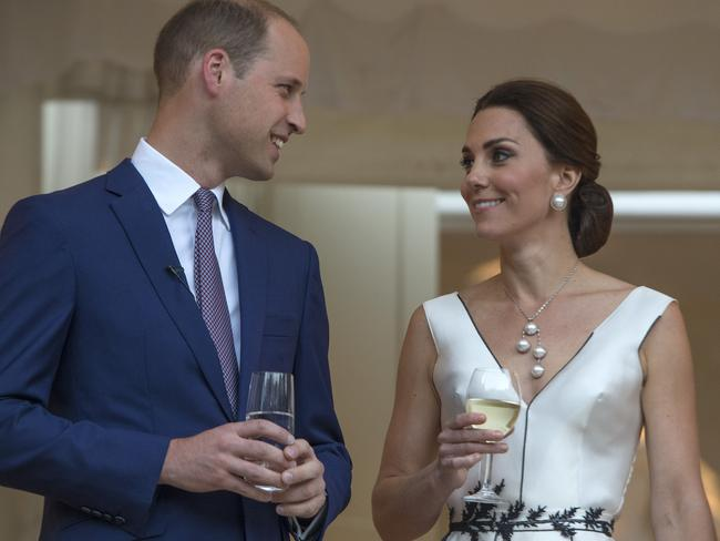 Cheers to that! The royal couple have announced they are expecting their third child. Picture: Julian Simmonds-Pool/Getty Images.
