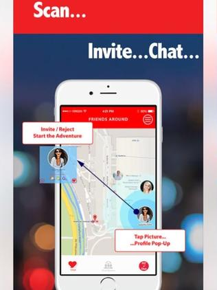 The app helps you find people on your flight who want to connect. Picture: via App Store