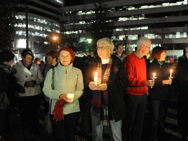 Many of those at the candlelight vigil had been touched by the Clancy's. Picture: Simon Bullard