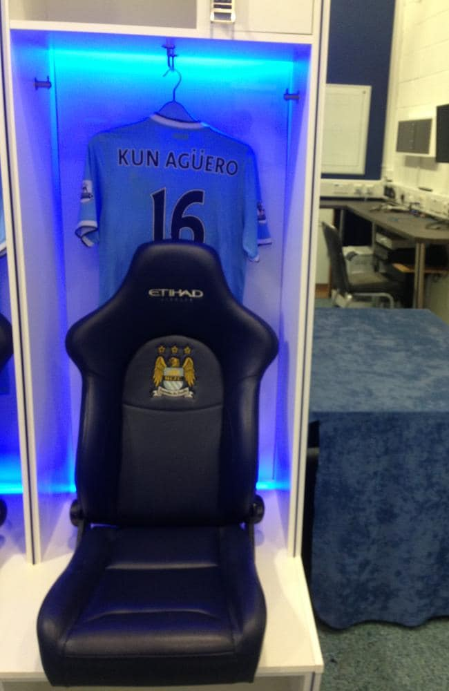 Star striker Sergio Aguero's spot at City's training complex.