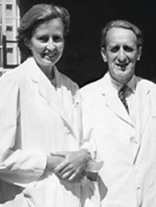 Dr Hamlin with her husband Reg.