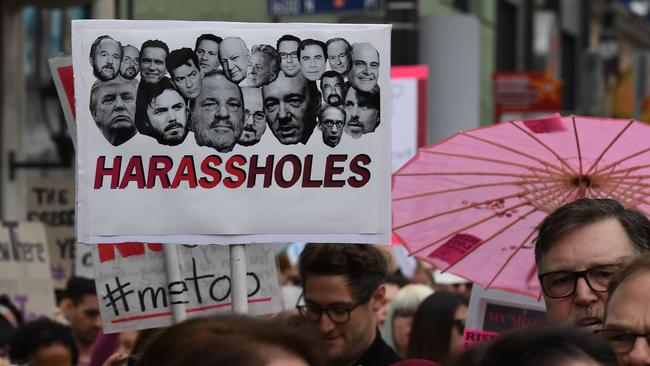 Harvey Weinstein is the result of society's years of complicity in trivialising sexual harassment. Picture: AFP/Mark Ralston.