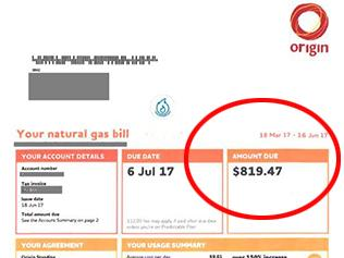 origin gas bill splash pic