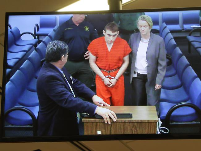 Cruz appears at Broward County Court House in Fort Lauderdale, Florida. Picture: AFP