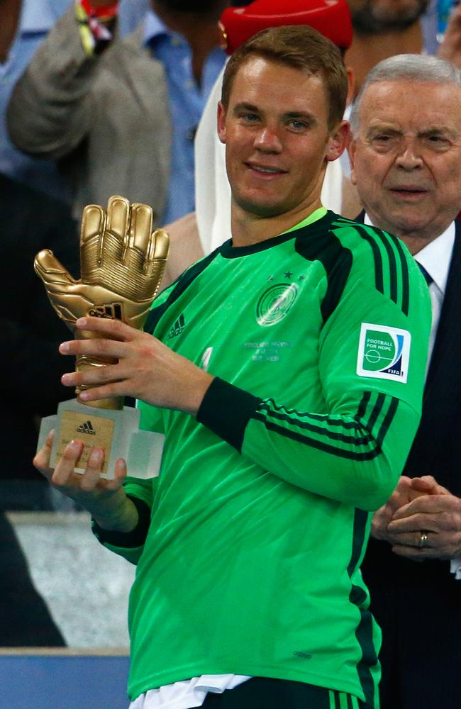 German goalkeeper Manuel Neuer.