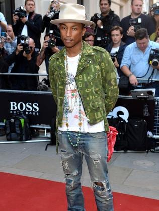 Pharrell Williams attends the GQ Men of the Year awards.