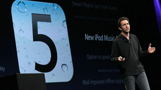 Apple Senior VP of iPhone Software Scott Forstall. Picture: Getty / AFP