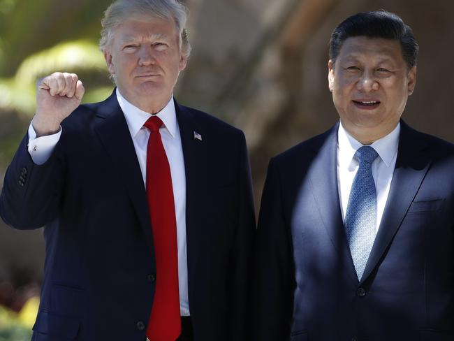 President Donald Trump and Chinese President Xi Jinping. Picture: AP