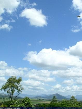The UFO was spotted on a weather cam in south east Queensland.