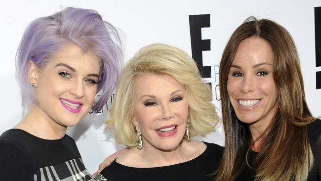 Reality hit ... panel show Fashion Police, hosted by Joan Rivers and produced by daughter Melissa, featuring style maven Kelly Osbourne, is a worldwide hit. Picture: AP