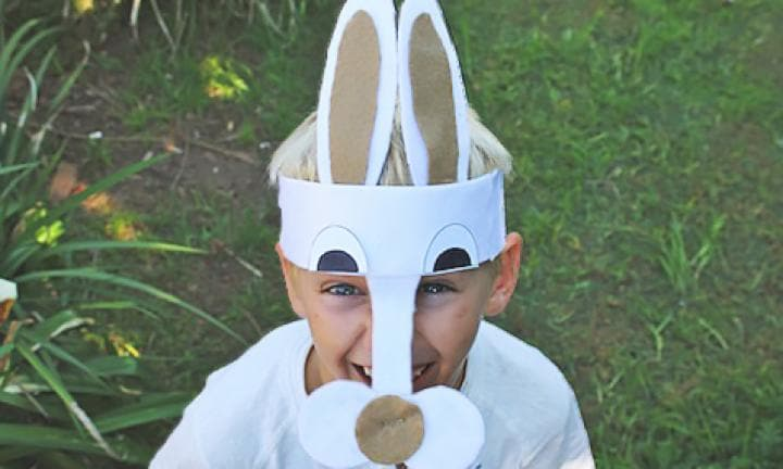 Make a bunny mask Easter hat