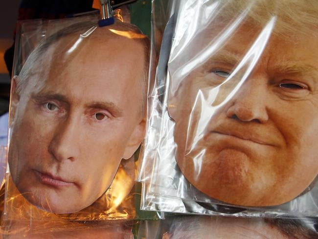 Trump and Putin are both talking up an arms race despite their warm appreciation of each other. Picture: Dimitri Lovetsky/AP