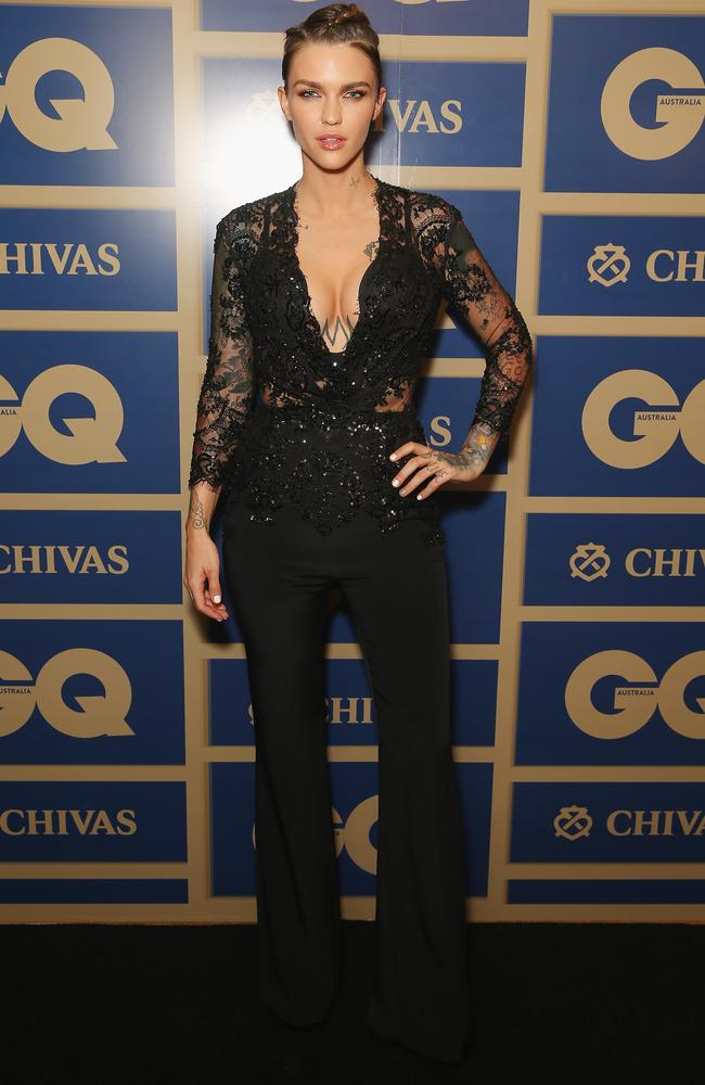 Ruby Rose at the 2015 GQ Men Of The Year Awards.