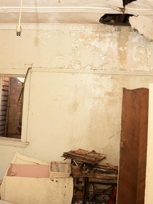 Crumbling ceilings and walls will be no deterrent to buyers.