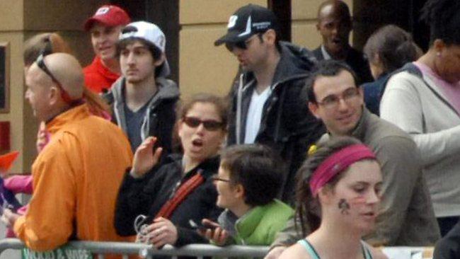 Tamerlan and Dzhokhar Tsarnaev among the spectatiors they later blew up