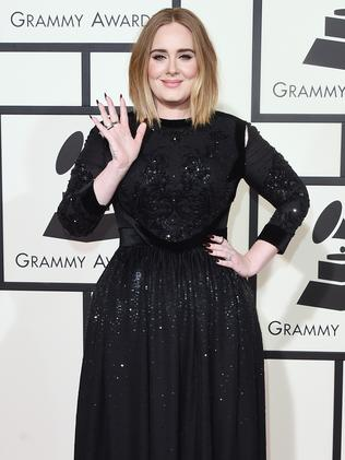 Adele waves to fans. Picture: AFP