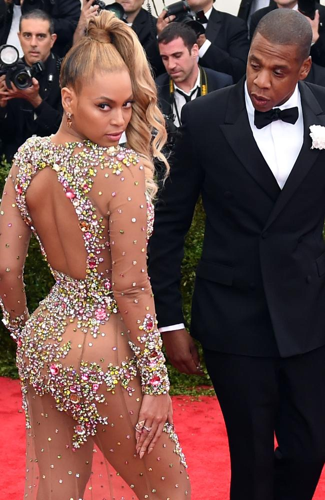 Beyonce and Jay-Z at the Met Gala in 2015. The couple recently welcomed twins. Picture: AFP/Timothy A. Clary