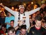 Yannick Ibsch cheers on Germany. Picture: Simon Cross