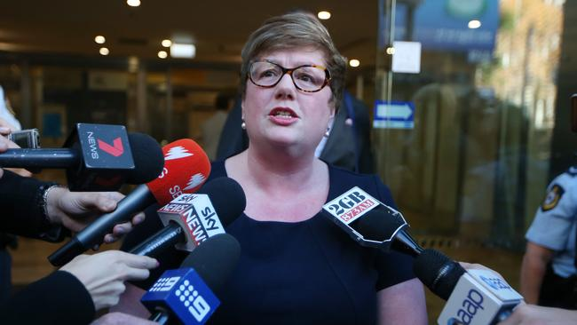 Lindt Cafe siege hostage Louisa Hope speaks to the media after attending the Lindt Cafe siege inquest findings in Sydney, Wednesday, May 24, 2017. Picture: AAP /David Moir.