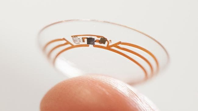 Visionary ... A Google prototype of a smart contact lens.