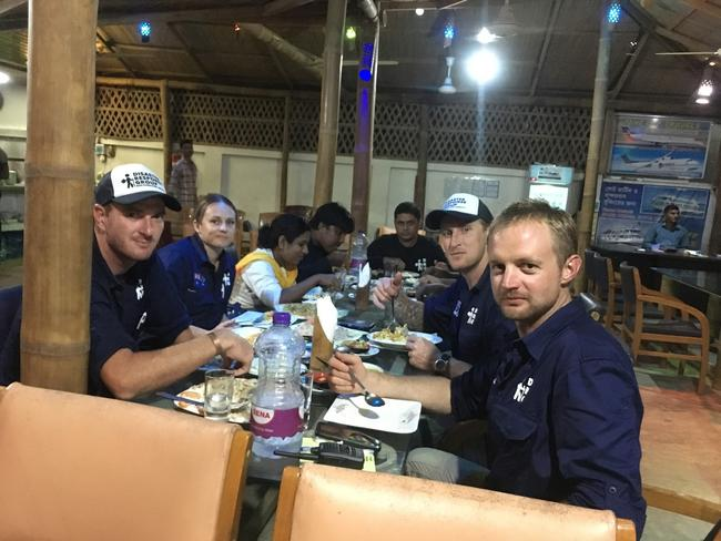 Backpacker Medics, the Aussie volunteers who are in Bangladesh helping Rohingya refugees. Picture: Backpacker Medics