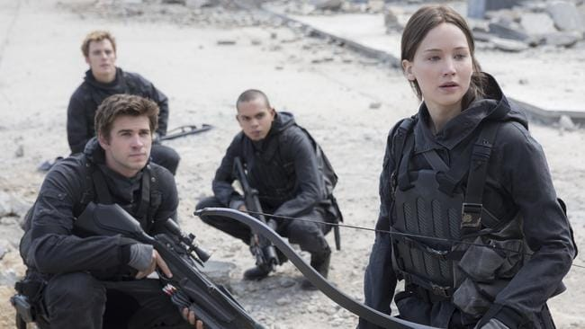 Starring with Jennifer Lawrence in The Hunger Games: Mockingjay Part 2.