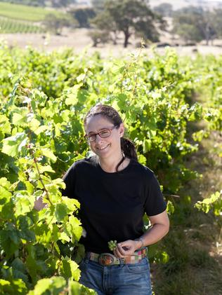 Yalumba's chief winemaker Louisa Rose in the vineyards.