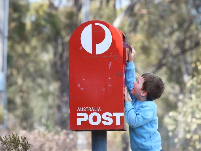 Less snail mail ... Australia Post is reducing the amounts of mailboxes. Picture: Rob Leeson.