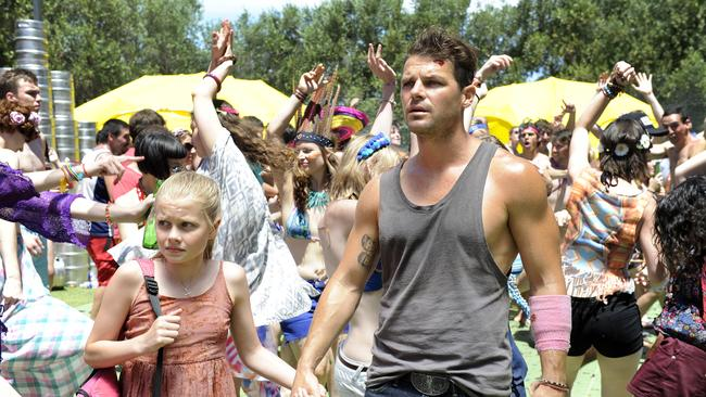 Glowing reviews ... Nathan Phillips and Angourie Rice in These Final Hours. Picture: Supplied.