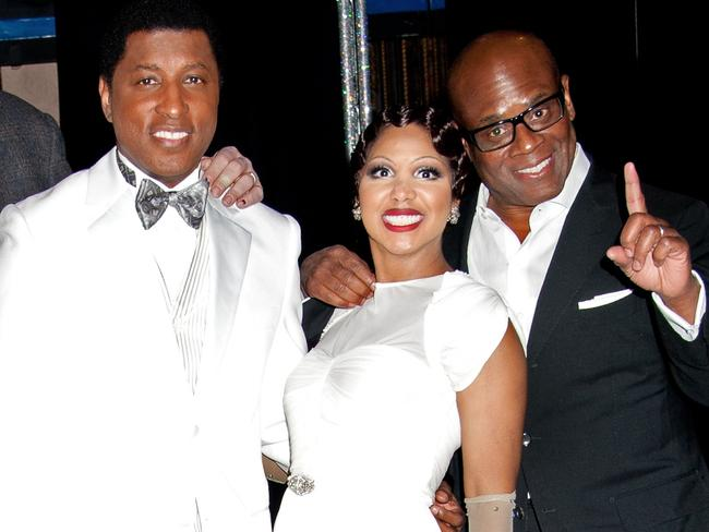 Dream team ... Kenny 'Babyface' Edmonds (left) with singer Toni Braxton and producer LA Reid. Picture: Splash News