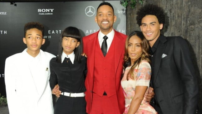Jaden Smith, Willow Smith, Will Smith, Jada Pinkett Smith and Trey Smith at the  <i>After Earth</i> premiere in New York City. Picture: Jennifer Graylock / FilmMagic.
